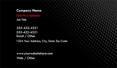 Black and Red Gradient Business Card Template